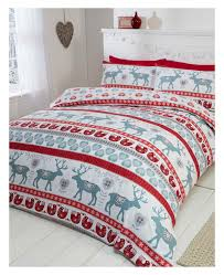 scandi brushed cotton king size duvet cover set