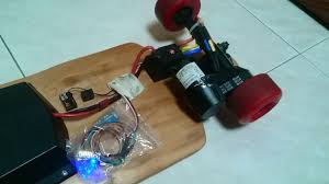 electric longboard controled with smartphone by arduino pro mini and bluetooth hc 06