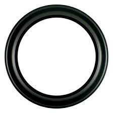 Round Frame in Matte Black Finish Antique Black Picture Frames