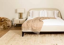 golden silk feel bedroom rug