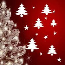 30 Fensteraufklebertannenbäume Und Sterneweihnachten Sticker
