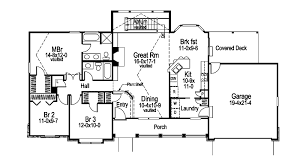 Foxridge Country Ranch Home Plan D    House Plans and MoreTraditional House Plan First Floor   D    House Plans and More