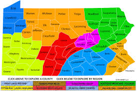 pennsylvania regions and counties maps