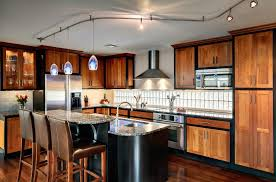 kitchen outstanding track lighting. Outstanding Track Lighting Image Ideas With Wood Drawers Custom Cherry Cabinets Rail System Kitchen