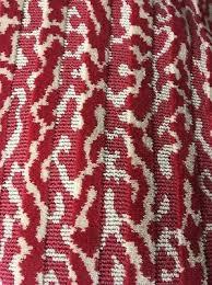 GORGEOUS JANE SHELTON SAFARI RED UPHOLSTERY FABRIC 1 YARD NEW OLD STOCK