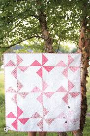 Free Baby Quilt Patterns featuring simple Turnstile Quilt Blocks ... & Free baby quilt patterns including this one for a simple baby quilt made  using a Turnstile Adamdwight.com