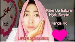 tutorial make up natural hijab simple