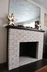 fireplace makeover with brick anew paint and behr marquee mantel and hearth