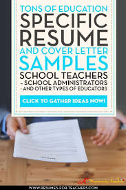 15 A Teacher Resume Samples With Matching Cover Letters Pinterest