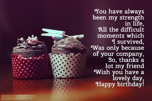 status about best friends birthday