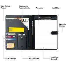 Resume Holder Cool Amazon Padfolio BusinessResume Portfolio AHGXG Leather