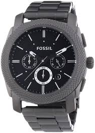 11 most popular best selling men s fossil watches the watch blog fossil men s machine chronograph watch fs4662 black dial and smokey grey case and bracelet