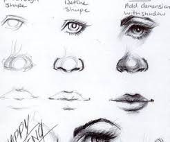 how to draw face eyes nose and lips timelapse photos