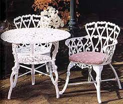 white cast iron patio furniture. garden and patio furniture cast aluminum heart bistro set these are classic white iron