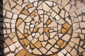 ground texture floor wall stone pattern line square soil tile craft yellow material circle ornament art