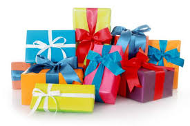 sorry gift grabbers no one is required to your kid a birthday present stack of
