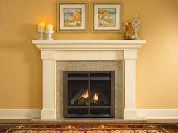 Amazing Cream Color Granite Fireplace Hearth And Combine With White Color  Mantlepiece Also Cream Color Granite