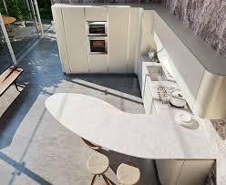 shaped quartz countertop in snaidero ola20 modern kitchen design