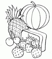 Healthy Food Coloring Pages For Kids Printable Coloring Page For Kids