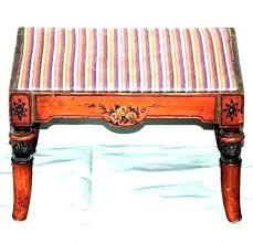 wooden foot stools unfinished wood footstool stool hand painted on satin black foots vintage sa rustic vintage french wooden footstool