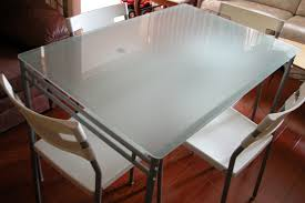 glass dining table ikea. dining tables, cool white rectangle modern iron glass table ikea varnished design: astonishing