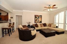 Tan Living Room Minimalist