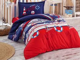single duvet cover set 160 x 220 cm red blue hover to zoom