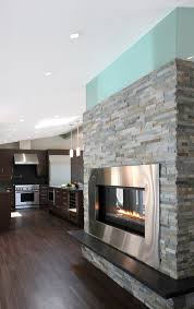 stand alone fireplace entry modern with cathedral ceiling dry stack