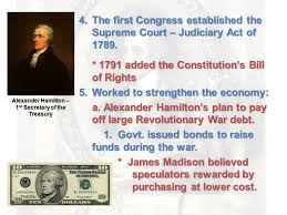 Image result for 1789, he was appointed the first secretary of the treasury by President Washington