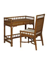 cottage wicker rattan desk chair and cottage wicker rattan writing desk