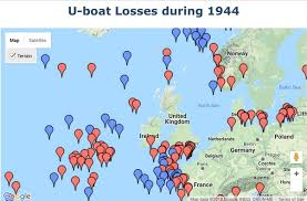 「Nazi U-Boats brought World War II to America's shores map」の画像検索結果
