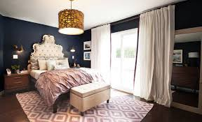 sophisticated yet youthful blue and purple bedroom