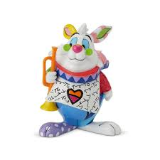 disney britto alice in wonderland white rabbit mini figurine im late for a very important dat loading zoom