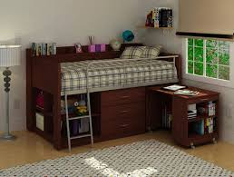 twin loft bed with desk and storage brown wooden laminated white wooden storage drawers brown wooden