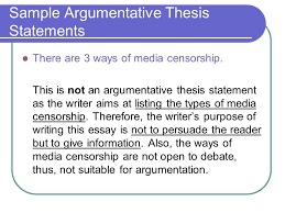 argumentative essay ppt  14 sample argumentative thesis statements