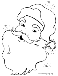 santa claus face coloring page. Have Fun With This Amazing Coloring Page Of Happy Santa Claus Face Just Print It Merry Christmas Intended