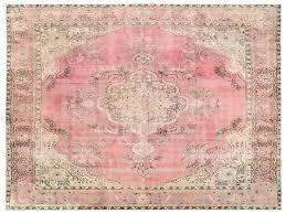 pale pink rug vintage rug 4 x 9 4 ft x cm by pale pink rugs pale pink rug