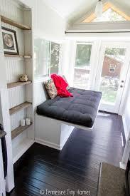 futon living room tiny house living home