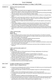 Manager Resume Sample Used Car Manager Resume Samples Velvet Jobs