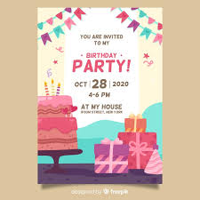 Birthday Invitation Party Happy Birthday Party Invitation Template Vector Free Download