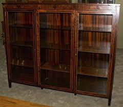 glass door bookcases bold idea antique with doors mahogany empire revival paw foot triple oak bookcase inch rustic oak bookcase with doors solid glass