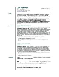 Example Of Teacher Resume Best Education Resume Examples 48 Example On Lovely The Best Way To