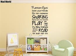 mad world playroom rules children play wall art stickers wall decal home diy decoration removable on diy playroom wall art with mad world playroom rules children play wall art stickers wall decal