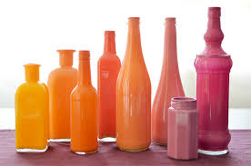 Painted Bottle Vases 06