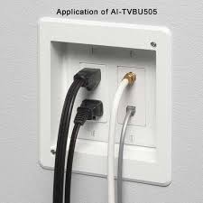 recessed multiple gang tv box for power and low voltage 2 gang ai