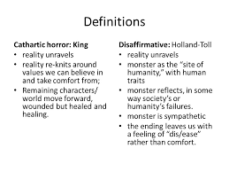 essay the orphanage definitions cathartic horror king reality  essay 2 the orphanage 2 definitions