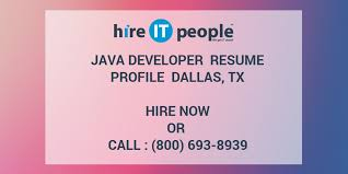 Java Web Sphere Developer Resume Magnificent Java Developer Resume Profile Dallas TX Hire IT People We Get