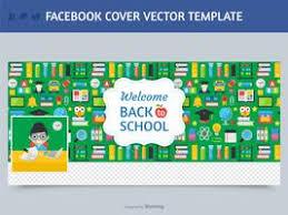 teacher facebook cover vector template