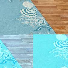 seashell area rugs nautical runners starfish bathroom rug best for beach house ocean themed coffee tables