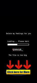 delete my feelings for you error the